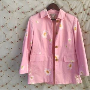 Vintage 90s pastel pink Daisy patterned jacket